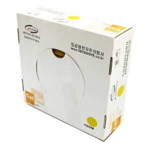 UTP 케이블 NETmate CAT.5e YELLOW (단선 100M)