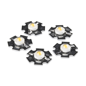 [COM-13104] LED - 3W Aluminum PCB (5 Pack, Warm White)