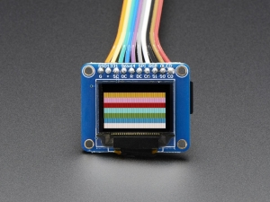 "[A684] OLED Breakout Board - 16-bit Color 0.96"" w/microSD holder"