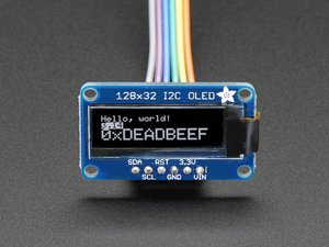 [A931] Adafruit Monochrome 128x32 I2C OLED graphic display